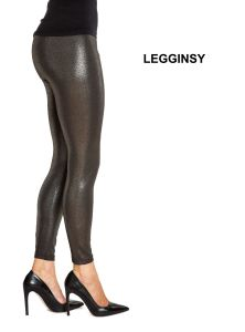 Women′s Tight Legging Made of PU Shiny Silver Coating pictures & photos