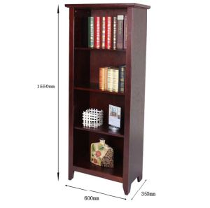 Brown Color Cabinet Made by Solid Wood Nice Bookcase (M-X1105) pictures & photos