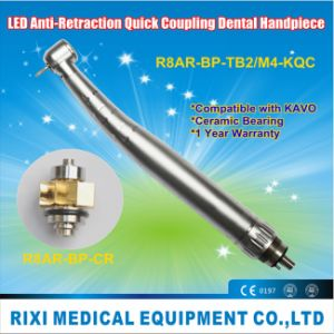 LED Anti-Retraction Torque Push-Button Quick Coupling Dental Handpiece