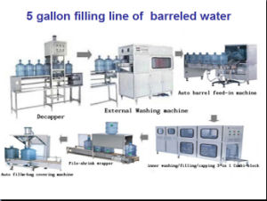5 Gallon Filling and Packaging Line Linear Filling Rotary Filling Washing Filling Capping 3 in 1 Filling Machine Filling Production Line