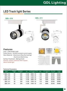 30W COB Sharp Track Light Qdl-310