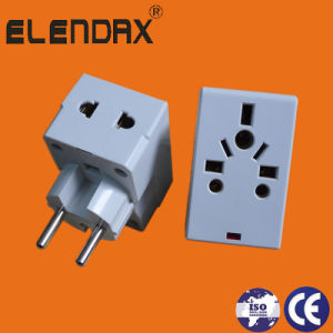European Style AC Power Adaptor with Lamp (P7036L) pictures & photos