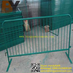 Galvanized Powder Coated Crowd Control Fence