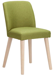 Light Green Accent Chair with Wood Frame