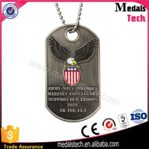 Custom Antique Silver Running Sports Flag Shape Medals pictures & photos