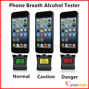 2 in 1 Alcohol Tester Apple Alcohol Breath Tester LCD Breath Alcohol Tester