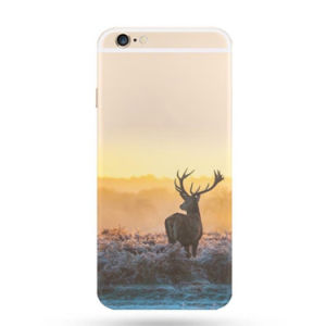 Soft Thin Transparent TPU Phone Case Colorful Printing Cell Phone Case