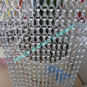 Hotel, Office, Shopping Mall Hanging Hook Linked Aluminum Chain Curtain Divider