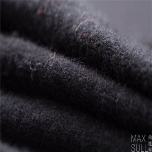 Yark Hair and Wool Fabric with Knitted for Winter in Black