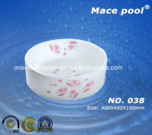 Competitive Normal Round Type Wash Basin Art Sink (038) pictures & photos