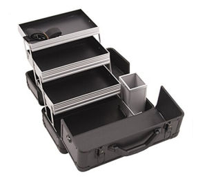 3-Tier Professional Customized Aluminum Case with Extendable Trays and Brush Holder pictures & photos