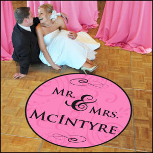 Customized Design Durable Full Color Wedding Floor Graphics Decals Sticker