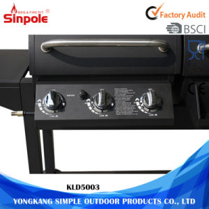 Wholesale Outdoor Stainless Charcoal Gas BBQ Grills with BBQ Smoker pictures & photos