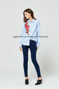c4715d1ffb2 Korean Ladies New Design Cotton Long Sleeve Shirt Embroidered Womens  Blouses Shirts