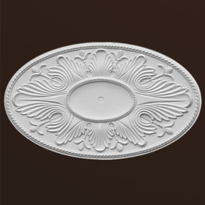 Oblong Polyurethane Ceiling Medallion Pu Decoration Hn 061