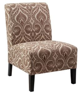 Light Purple Accent Chair with Wood Frame