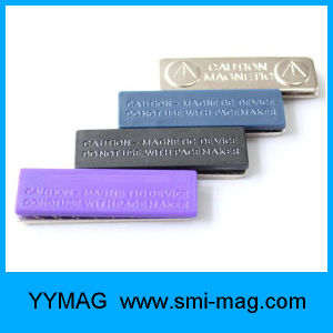 Reusable Plastic Magnetic Name Badge pictures & photos
