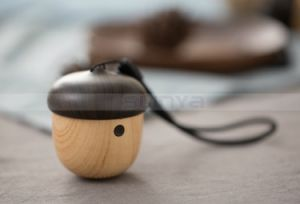 Portable High-End Wireless 3D Around Super Bass Promotional Speakers Wood Mini Nut Bluetooth Speaker pictures & photos