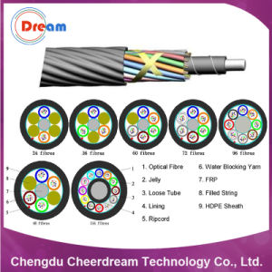 144 Core Sm/mm Air Blown Optical Fiber Cable for Microduct pictures & photos