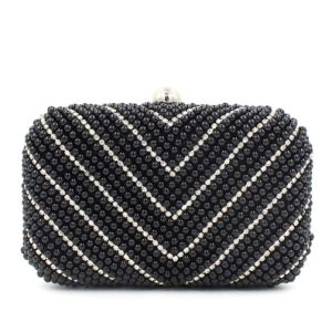 Wholesale Fashion Evening Bag V Style Pearl Clutch Bag (XW0947) pictures & photos