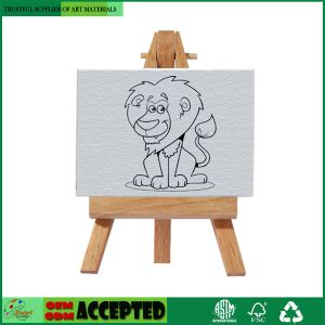 China 3 X3 Mini Canvas Desktop Easel Set Kids Drawing Craft Art