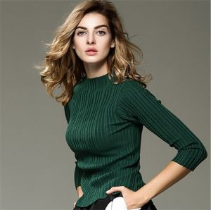 2015 Fashion Autumn& Winter High-End Women Garment Knitting Clothing Slim Inner Wear pictures & photos