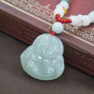 China natural jade pendant laughing buddha lucky men and women natural jade pendant laughing buddha lucky men and women accessories aloadofball Choice Image