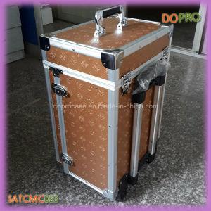 China Large Aluminum Cosmetic Case Gold
