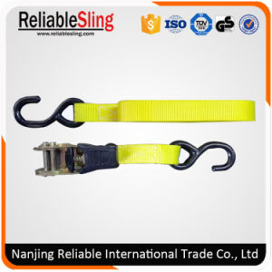 "En12195-2 1""- 4"" Polyester Ratchet Tie Down for Cargo Lashing pictures & photos"