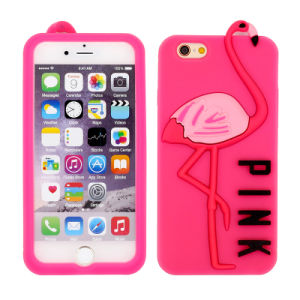 Wholesale Pink Crane Silicone Silicon Cell Phone Case for iPhone