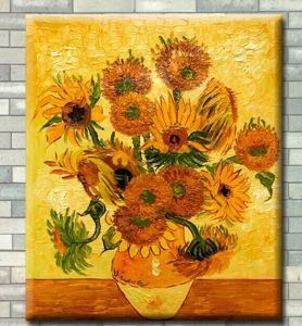 Pure Hand-Painted Oil Painting of Sunflowers pictures & photos