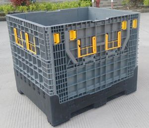 1200X1000 Folding Plastic Manual Forklift Storage Pallet Container