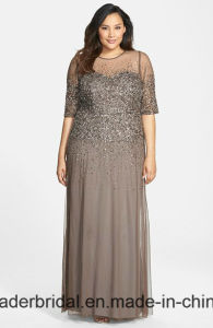 Plus Size Mother Formal Gown Chiffon Beading Evening Dress Z1005 pictures & photos
