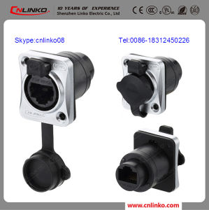 Cat5 RJ45 Ethernet Connector Bulkhead Connector for Vibration Test Equipment pictures & photos