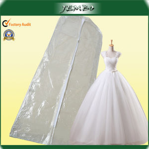 Custom Zipper Clear PVC Long Wedding Gown Bag pictures & photos