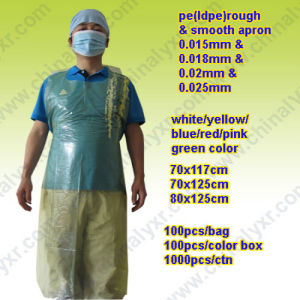 Ly Disposable Plastic Aprons Yellow (LY-AP-Y) pictures & photos