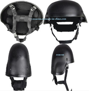 Black Ballproof Steel Helmet for Army or Police pictures & photos