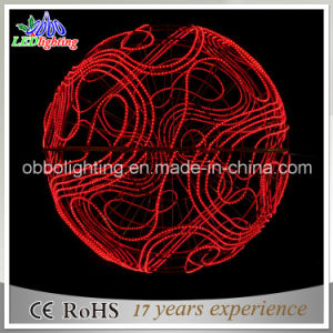 Promotional 100cm 3D Christmas Decoration Red Rope Light Ball Light