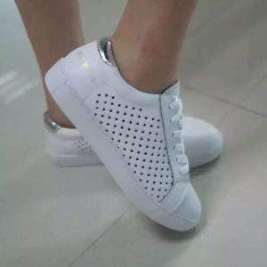 White Shoes Lace-up Style Fashion Breathable Platform Women Shoes (AKCS1) pictures & photos