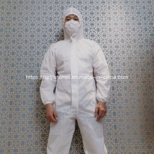 Low Price White Non-Woven Isolation Suit Protection Clothing