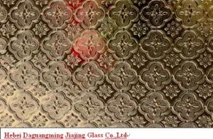 Bronze Patterned /Figured / Rolled Glass/Bronze Karatachi with ISO9001ISO14001/Ohs18001 Certification