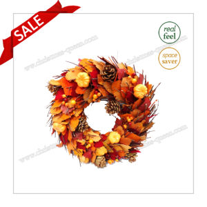 D36-44cm Preserved Leaves Dried Flower Halloween Wedding Decoration Craft