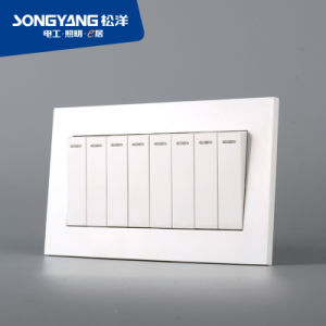 Electric Switch White Series 8gang Wall Switch
