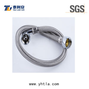 Braided Flexible Hose with Elbow End (L1001-B)