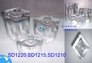 Clear Glass Candle Holders (ZT-35) pictures & photos