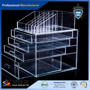 Top Manufacturer Hot Selling Clear Acrylic Makeup Box with Drawers pictures & photos
