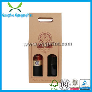 Low Price Custom Corrugated Paper Wine Box with Handle pictures & photos