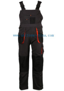 Workwear Pants Polyester Cotton Bib Overalls Protective Clothing Bib Pants pictures & photos