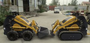 Gasoline or Diesel Engine Mini Multi-Function 23HP Mini Skid Steer Loader with 4 in 1 Bucket pictures & photos