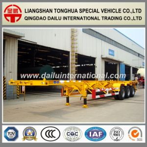 3-Axle 40FT Container Transport Semi-Trailer Skeleton Semi Trailer